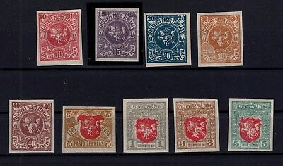 P35484 / Lituanie / Lithuania / Lot 1919 Neufs * / Mint Mh 160 €
