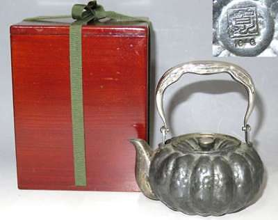 "Tea pot Sencha Tool Bottle Silver Bottle 170 g"" Minagawa-do paint box"