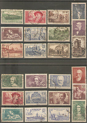 Joli Lot De Timbres De France De 1937 A 1939