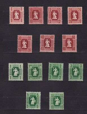 Hongrie - 1946 - Mi 947-959  perforated - MNH **