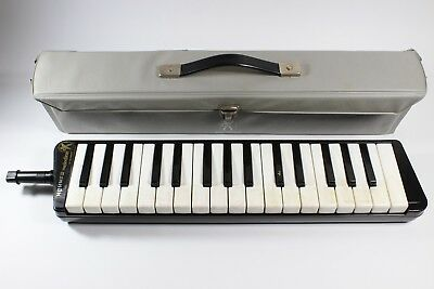 Vintage 70's Hohner Melodica Piano 32 & Case Made in Germany UNUSED MOUTHPIECE