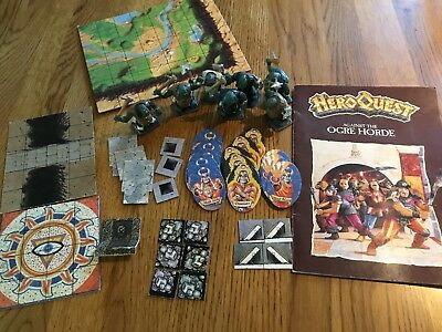 VERY RARE HEROQUEST Against The Ogre Horde NO BOX Painted Figures