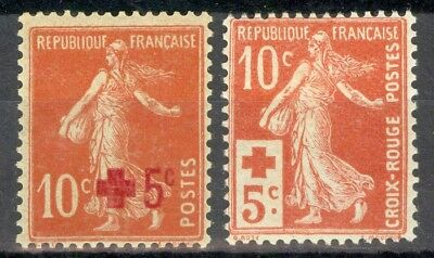 France, timbres N° 146 et 147 neufs *, TB