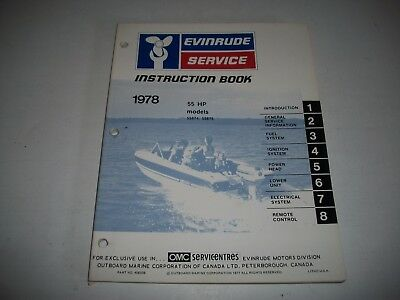 1978 Evinrude ( Johnson) 55 Hp Outboard  Oem Service Shop  Manual 55874 55875
