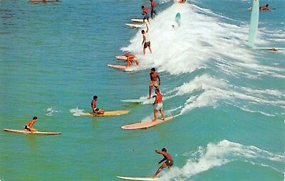 Postcard Riding the Surf Surfing, a sport of Kings #S