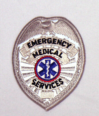 EMS Emergency Medical Services Uniform Shirt Hat Jacket REFLECTIVE SILVER Patch