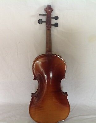 4x4 Violin With Label In Need TLC.