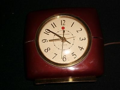 RARE GE (General Electric) VINTAGE ELECTRIC CLOCK<>MODEL 7H 182<>1950s ART DECO