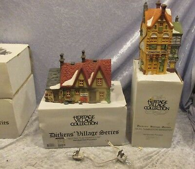 Dickens village series butter tub farmhouse 58337 AND Silas Thimbleton barrister