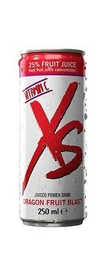NEW ! Boisson énergisante XS FRUIT du DRAGON 25% jus de fruit energy drink x12