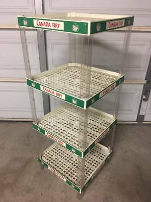Vintage Canada Dry Ginger Ale Soda Plastic Store Display Rack Shelf Promo