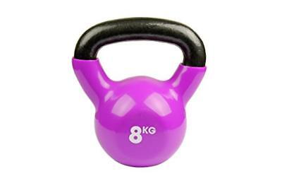 (TG. 20) Fitness-Mad, - Kettlebell, Peso 8 kg., rosso  (rosso), 20 - NUOVO