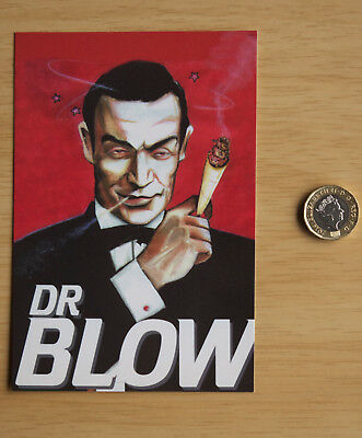 071 Dr Blow Sean Connery James Bond Spoof Post Card Amsterdam MJ102