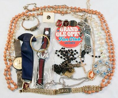 Large Costume Jewelry and Wristwatch Lot