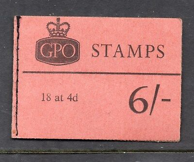 October 1965 Phosphor Wildings 6/- Booklet Q5p INCOMPLETE With 1 Stamp Missing