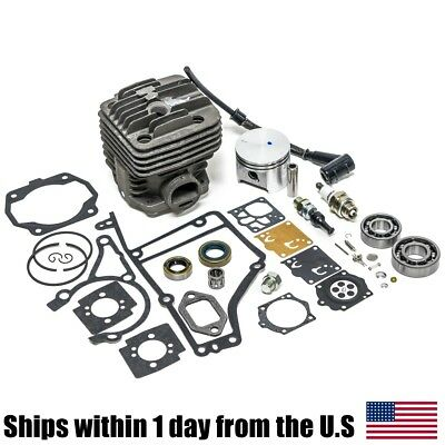 49MM Cylinder Kit & Complete Overhaul Gasket Set for Stihl TS400 Saws