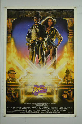 RAIDERS OF THE LOST ARK ROLLED 10TH ANNIVERSARY 27x41 NEAR MINT ONE SHEET POSTER
