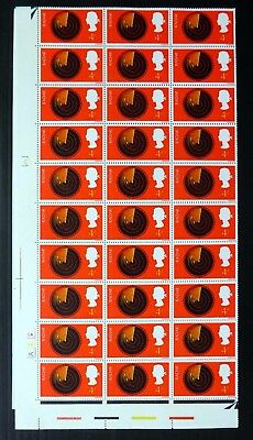 GB 1967 Discoveries Radar 4d in Complete Sheet of 120 NB4223