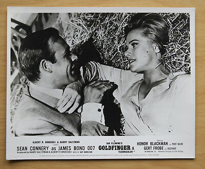 076 Goldfinger 1968 British Front Of House Still Lobby Card James Bond 03