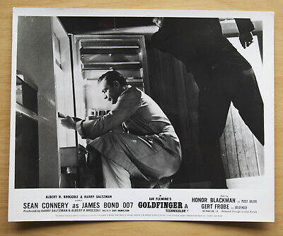 077 Goldfinger 1968 British Front Of House Still Lobby Card James Bond 04
