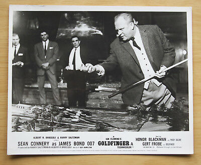 078 Goldfinger 1968 British Front Of House Still Lobby Card James Bond 05