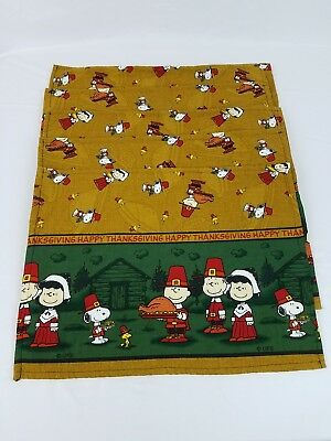 Lot of 5 Cloth Peanuts Charlie Brown Thanksgiving Placemats