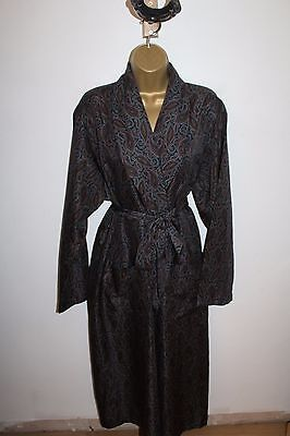 Amazing Vtg St Michael Marks And Spencer Red/ Navy Blue Paisley Robe M