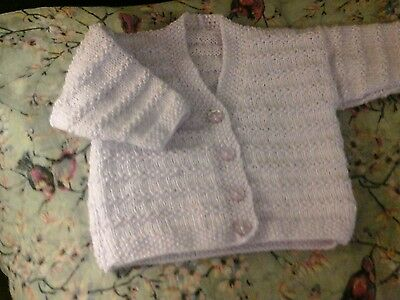 Baby cardigan pale lilac  0-3 months