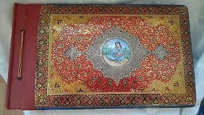 Antique Persian Lacquer Painted Photograph Album