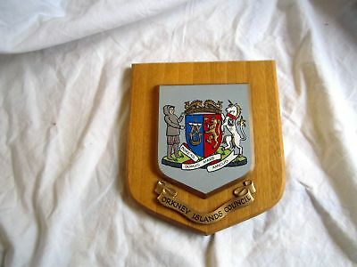 Wall Plaque Shield: Orkney Islands Council