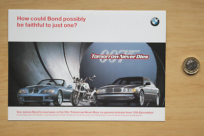 093 BMW Tomorrow Never Dies London Motor Show Leaflet 1997 Z3 R1200 James Bond