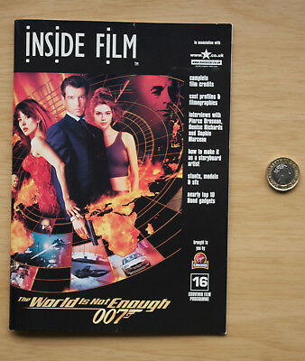 088 Inside Film The World Is Not Enough 1999 Cinema Booklet James Bond