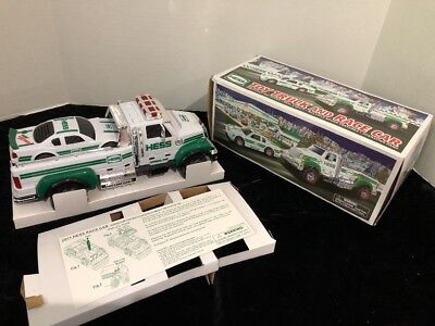 2011 Hess Toy Truck And Race Car Collectible NEW in box NO BATTERIES