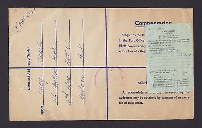 Hong Kong USED * overprinted * QE2 REGISTERED Stationery envelope Only 2 known !