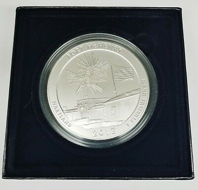 2013 Fort McHenry America The Beautiful Five Ounce Silver Uncirculated Coin