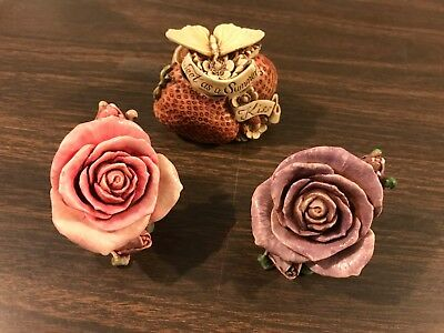 NIB Harmony Kingdom LOT OF 3 Lord Byron Boxes New Flower