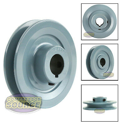 "3.75"" Cast Iron 7/8"" Shaft Pulley Sheave Single 1 Groove V Style A Belt 4L New"