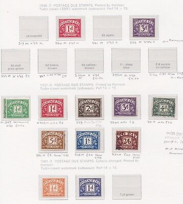 Lot:23546  GB GVI  1936-38 Postage Due collection used and mint