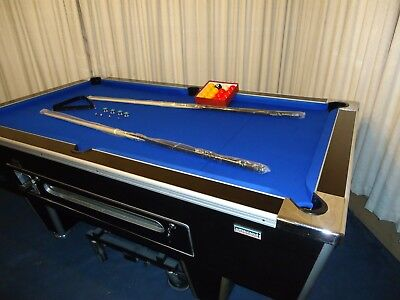 """""""superleague"""" 7 X 4 Slate Bed Pool Table, Full New Recover, """"no Reserve"""" L@@k"""