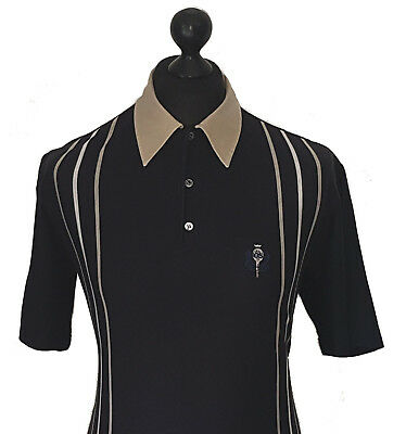 Hugo Boss Men's Vintage 90's 'tennis Nine' Cotton High Twist Polo Shirt Size L