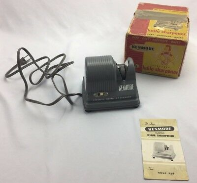 Kenmore Electric Knife Sharpener in Original Counter Display Box Vintage