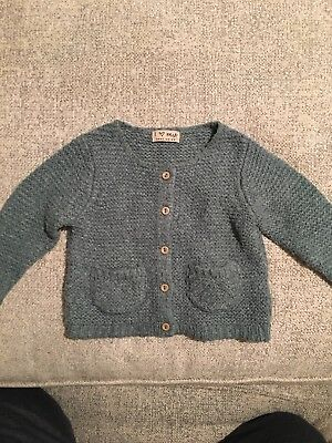 Girls Next Green Knitted Cardigan 6-9m