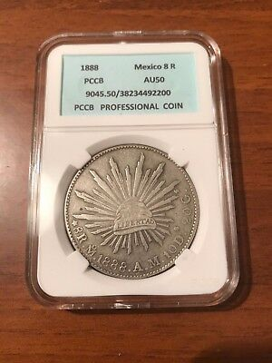 Coin 8 Reales 1888 . Mexico