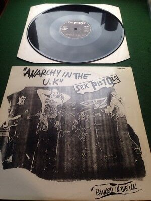 """SEX PISTOLS - Anarchy In The UK 'banned in the UK' 12""""  Punk Classic 77"""