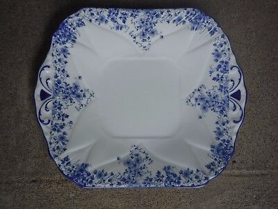 Shelley Bone China Dainty Blue Cake Plate Serving Plate  Minty Reg. No 735121