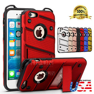 Fits Apple iPhone 8 / 7 Plus Military Grade Kickstand Rugged Armor Case Cover