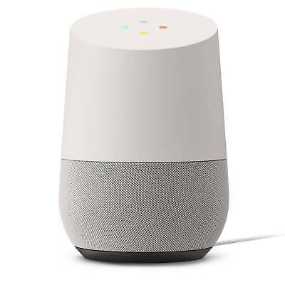 Google Home Voice-Activated Speaker-White-Excellent