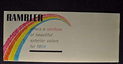 1964 Rambler Paint Color Brochure American Classic Ambassador Excellent Original