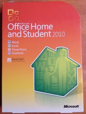 Microsoft Office Home & Student 2010 Family Word, Excel, PowerPoint, OneNote