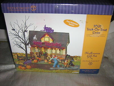 Department 56 Halloween 1031 Trick Or Treat DriveLighted Building Snow Village